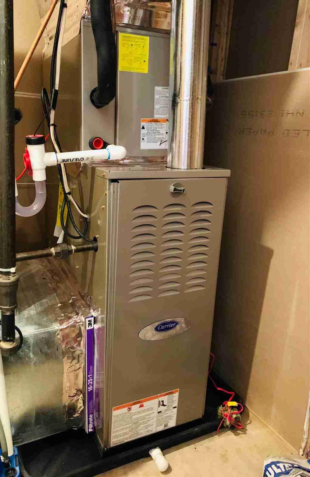 carrier furnace replacement in Manassas Virginia
